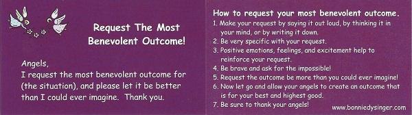 Request The Most Benevolent Outcome